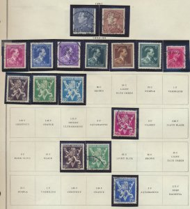 Belgium Stamp Scott #294//364, Used/Mint Hinged,~33 Different , 1941-6 Issues...
