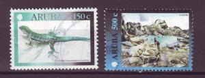 J15046 JLstamps 2000 aruba hv,s of set used #191-2 designs