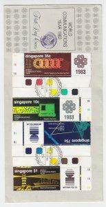 1983, Singapore: World Communications Year, FDC (S18888)