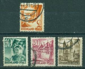 Germany - French Zone  - Rhineland #6N30,6N34-36  Used  F...