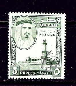 Qatar 35 Used 1961 issue
