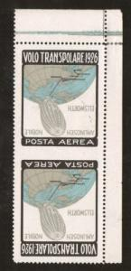 Italy San 53i MLH.1926 Trans-Polar INVERTED CENTER, Imperf Between