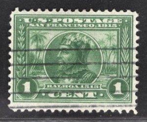 US Stamp #397 1c Green Balboa USED SCV $2.00