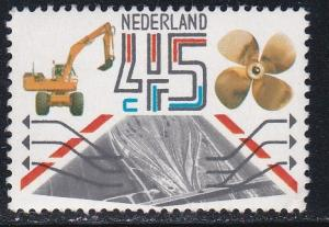 Netherlands # 616, Exports - Excavators, Ships Screws, NH