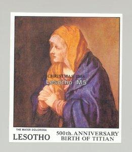Lesotho #694 Titian Art Christmas 1v S/S Imperf Proof