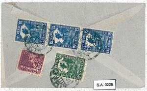 PERU - POSTAL HISTORY  -  AIRMAIL COVER to GB 1933