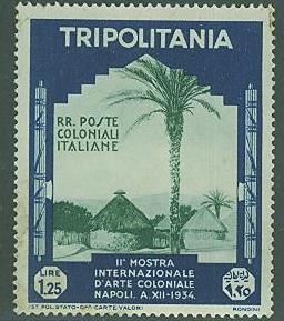 Tripolitania SC#78 Native Village Scene, 1.25L, Mint no-gum