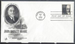United States, 1295. $5 John B. Moore FDC, Used