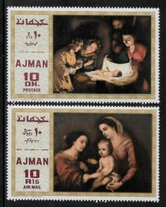 Ajman Michel #455A-6A MNH Set - Christmas Paintings