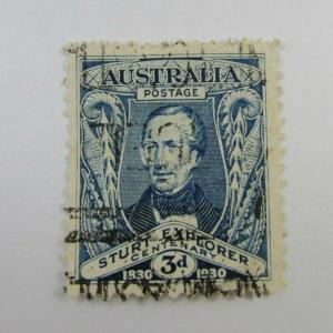 1930 Australia SC #105 STURT EXPLORER Centenary Used stamp