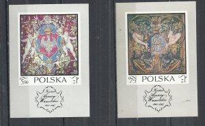 POLAND 1970 - TAPESTRIES -  2 DIFFERENT MINISHEETS - MNH MINT