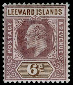 LEEWARD ISLANDS SG25, 6d dull purple & brown, NH MINT.