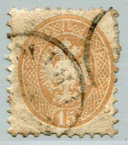 AUSTRIA LOMBARDY-VENETIA #24 Fine Used Issue - PAPER REMNANT ON BACK - S7787