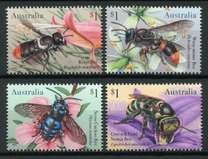 Australia Stamps 2019 MNH Native Bees Resin Bee Insects 4v Set