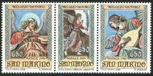 1988 San Marino 1404-1405strip Artist / Melozzo da Forli 5,50 €