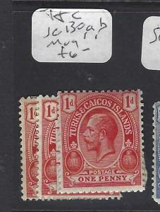 TURKS AND CAICOS  (PP2909B)  KGV  1D  SG 130,A,B,   MOG
