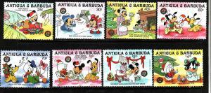Antigua-Sc#978-85-unused NH set-Christmas-Disney characters