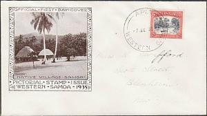 SAMOA 1935 2d FDC ex Apia.................................................54630