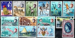 Turks And Caicos Islands #217-30 MNH CV $20.45 (X7648)