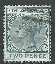 Malta SG 23 2d Grey FU