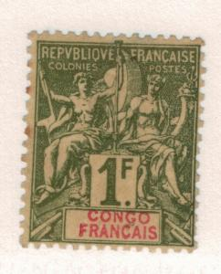 French Congo Stamp Scott #34, Mint Hinged - Free U.S. Shipping, Free Worldwid...