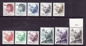 Norway-Sc#1004//1020-unused NH definitive part set-1992-2002-