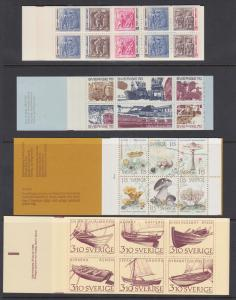 Sweden Sc 730a/2479 MNH. 1967-2004 issues, 12 different Intact Booklets, VF