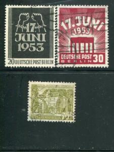 Berlin #9N99-100, 9N110 Used VF