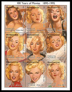 Montserrat MNH S/S 860 Marilyn Monroe 1995 SCV 11.50