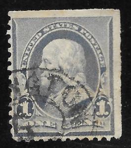 US #219 1c Benjamin Franklin