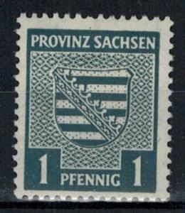 Germany - Russian Zone - Saxony - Scott 13N1 MH (SP)