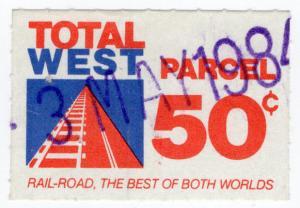 (I.B) Australia - Queensland Railways : Parcel Stamp 50c