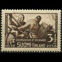 FINLAND 1938 - Scott# 214 Colonization Set of 1 NH