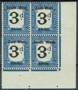 SOUTH WEST AFRICA 1923 POSTAGE DUE 3D BLOCK SETTING I LONDON PRINTING