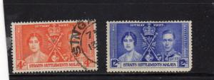 Malaya Straits Settlement 1937 Coronation used