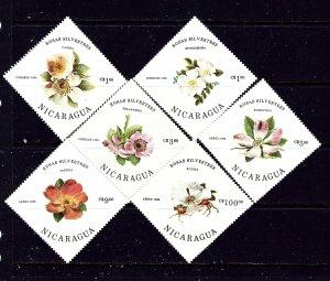 Nicaragua 1494-99 MNH 1986 Roses