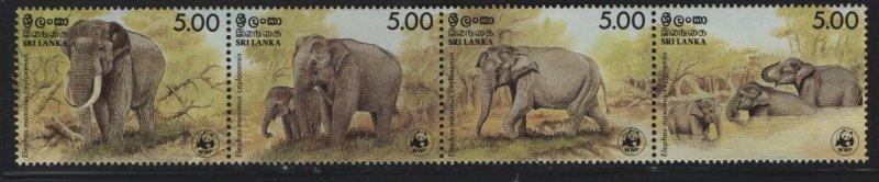 SRI LANKA, 803, FOLDED,  MNH ,1986 World wildlife fund
