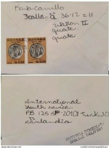 A) 1983, GUATEMALA, SPECIAL DELYVERY, COVER SHIPPED TO FINLAND, AIRMAIL, CENTAVO