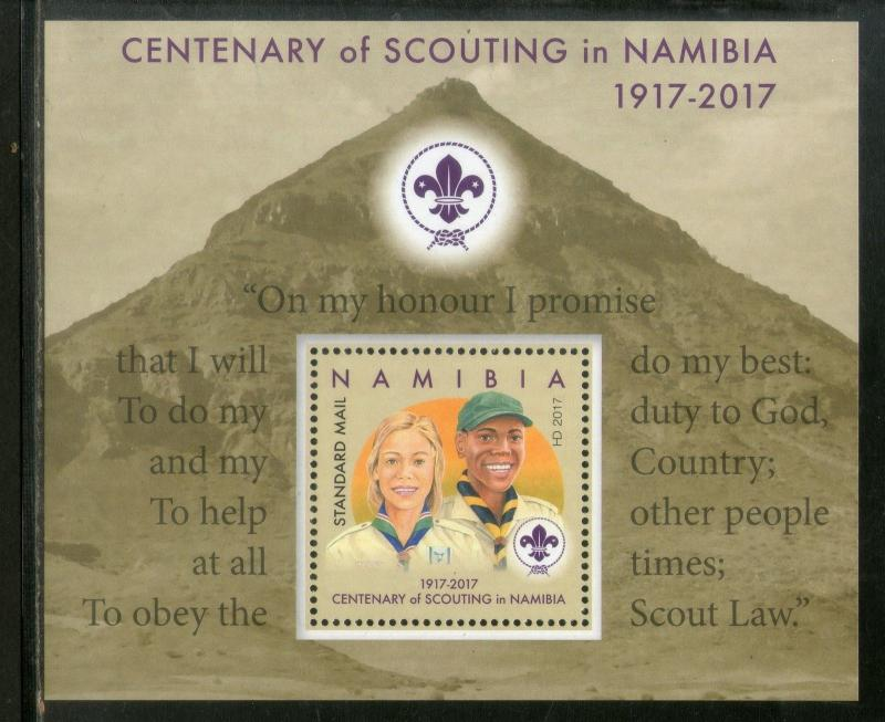 Namibia 2017 Centenary of Scouting Girl Guide & Boy Scout M/s MNH # 8271
