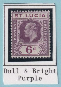ST LUCIA 54  MINT HINGED OG * NO FAULTS VERY FINE!