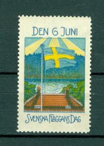 Sweden.  Poster Stamp MNG. 1916-17. National Day June 6.