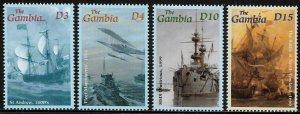 Gambia #2536-9 MNH Set - British Royal Navy - Ships