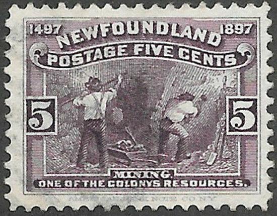 Newfoundland Scott Number 65 VF Used