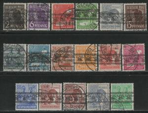 Germany AM Post Scott # 600 - 616, used, cpl. set incl. # 614a
