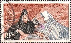 French West Africa - 1958 Yv.PA28 / Mi.101 20fr Inauguration of Nouakchott - VFU