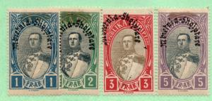 Albania - Sc# 234 - 237 MH (few hinge stains)/ see image -  Lot 0918104
