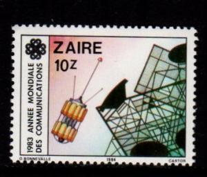 Zaire - #1139 World Communications - MNH