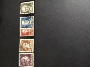 German Democratic Republic 2015 Scott #10NB6-10 Used - 1949 Goethe Cpl. Cat. $15