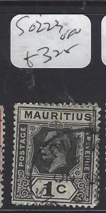 MAURITIUS   (PP0710B)   KGV 1C  SG 223   VFU