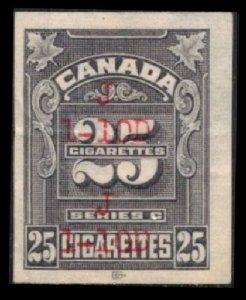 CANADA 1935 REVENUE TOBACCO TAX #RC394 SERIES C 25 CIGARETTES IMPERF STAMP